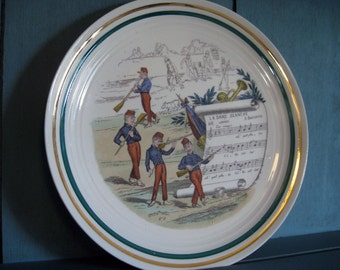 Pillivuyt Sujets PV French Musical Opera Plate, La Dame Blanche