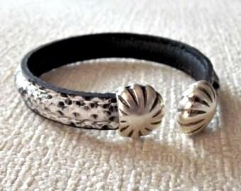 Snake cuff, snake cuff bracelet, snakeskin bracelet, snake skin bracelet, leather bracelet, snake bracelets, snake skin