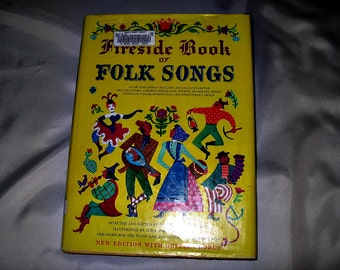 Fireside Book of Americana Folk Songs 1947 Hardcover, 21st Printing, Piano and Guitar Music