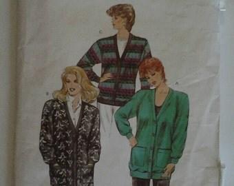 Vintage Kwik Sew 1538 Ladies Cardigan Sewing Pattern