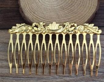 10pcs 14Teeth 72mmx50mm  Metal  Hair Combs