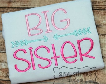 Big Sister Machine Embroidery Design