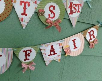 County Fair Birthday Banner Party Theme carnival boardwalk festival