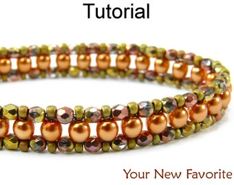 Beading Tutorial Pattern Bracelet - Right Angle Weave RAW - Simple Bead Patterns - Your New Favorite #452