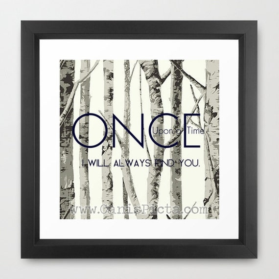 once upon a time 8x8 square pop art print wall home decor tv