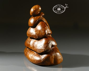Hand carved  Sculpture , wood statue,zen inspired,handmade,original sculpture