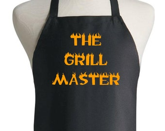 Custom Barbecue Apron The Grill Master Novelty Gift Ideas
