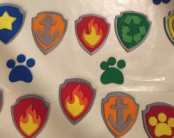 Paw inspired Patrol inspired cupcake toppers