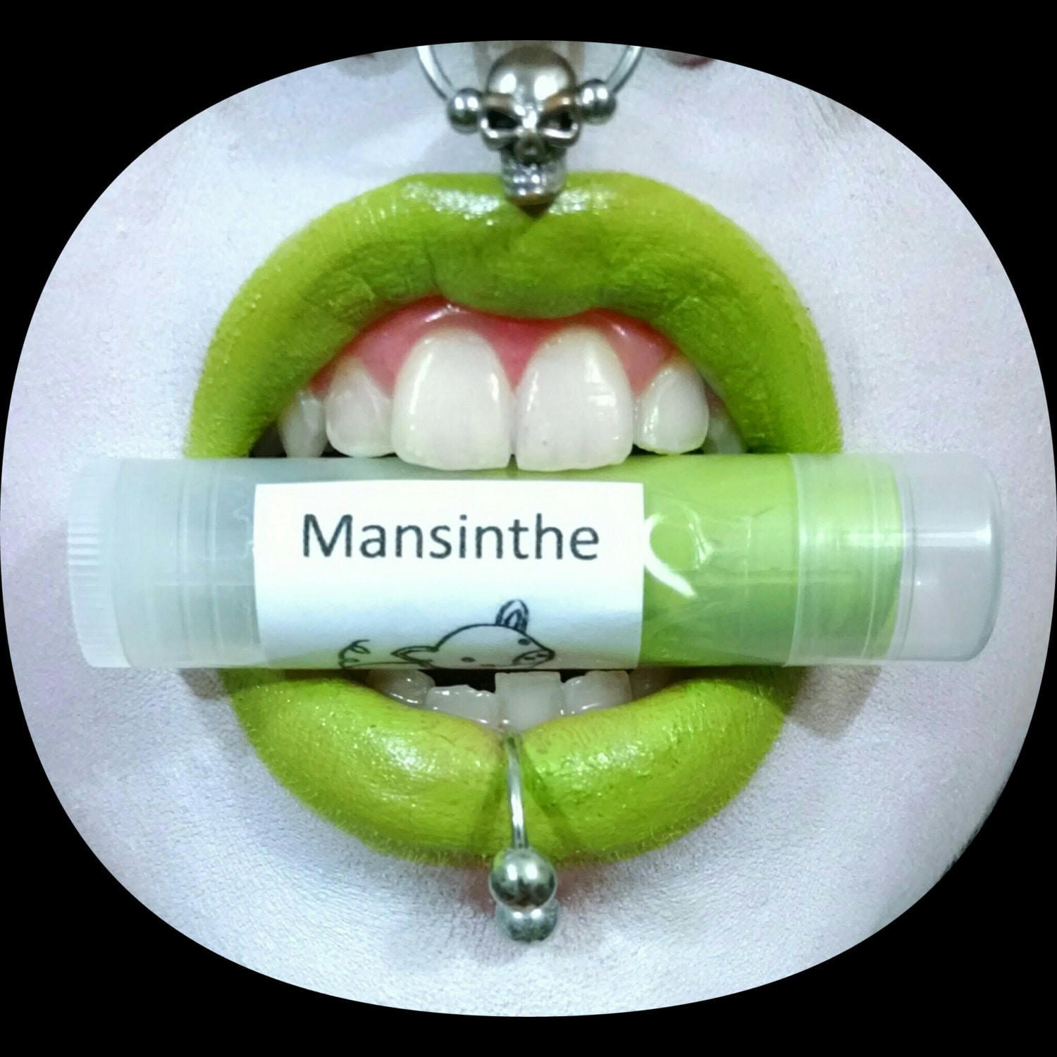 Mansinthe by Drac Makens Bright Yellow Green Lipstick