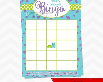 Monsters Inc Baby Shower Bingo