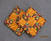 Fall Leaves Pot Holders/Hot Pads