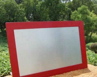Large Framed Magnetic Board-Restaurant-Kitchen-Menu Board-Metal Magnet Board-Wedding Decor