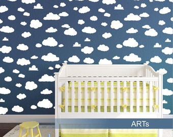 Stencil for painting Clouds (3694xo)
