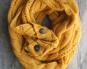 READY TO SHIP! The Perfect Scarf ™ -  Infinity Scarf - Free Shipping! Spicy Mustard Scarf, Christmas Gifts, Teacher Gifts, Gifts for her