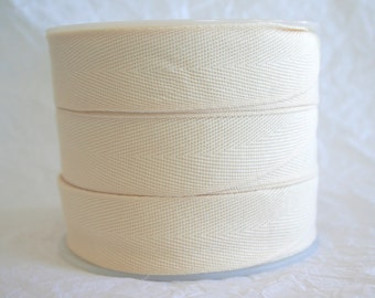 "1""Poly Twill Tape, Apron Tape, Herringbone 7 SOLID COLORS"