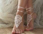 Blush or ivory wedding Barefoot Sandals, beach shoes, bridal sandals,  barefoot sandles, sandals, wedding shoes, summer wear, handmade