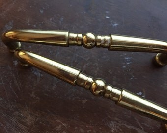 """Brass or Colored Drawer Pulls 4"""" Center 4"""" Total Length"""