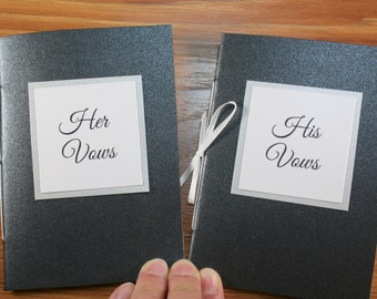 Set of 2 - Wedding Vow Books / Vow Booklet / Wedding Gift for Bride and Groom