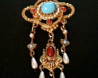 Vintage Art Deco Dangle Brooch by ART