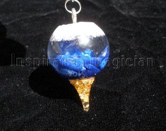 Orgone Dowsing Pendulum with Precious Metals.