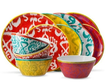 Ethnic Batik Ikat Printed Dinnerware Sets