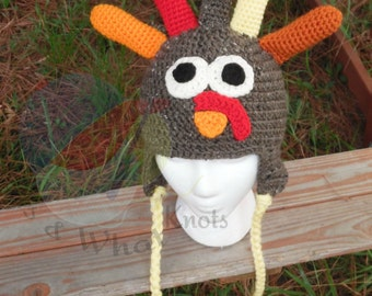 Crocheted Turkey Hat