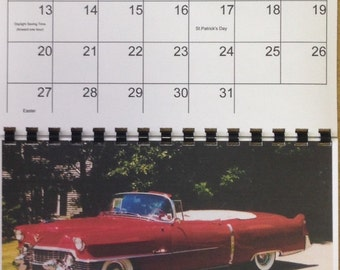 1940s-50s Classic Cars - 2016 Wall Calendar With 2-Month Display