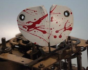 steampunk leather eye patch , bloody , dexter