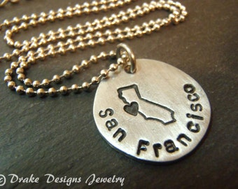 ALL 50 STATES personalized state necklace city state heart charm custom city jewelry