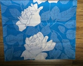 Vintage blue roses pair of pillow cases