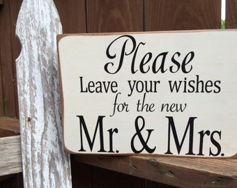 Wedding Guest Book Sign/Leave Your Wishes Sugn