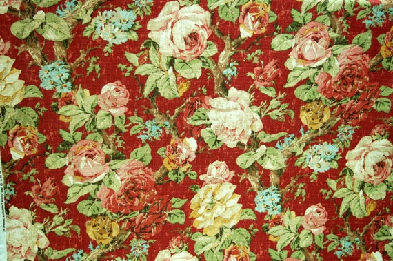 Floral home decor fabric Fabric by the yard by