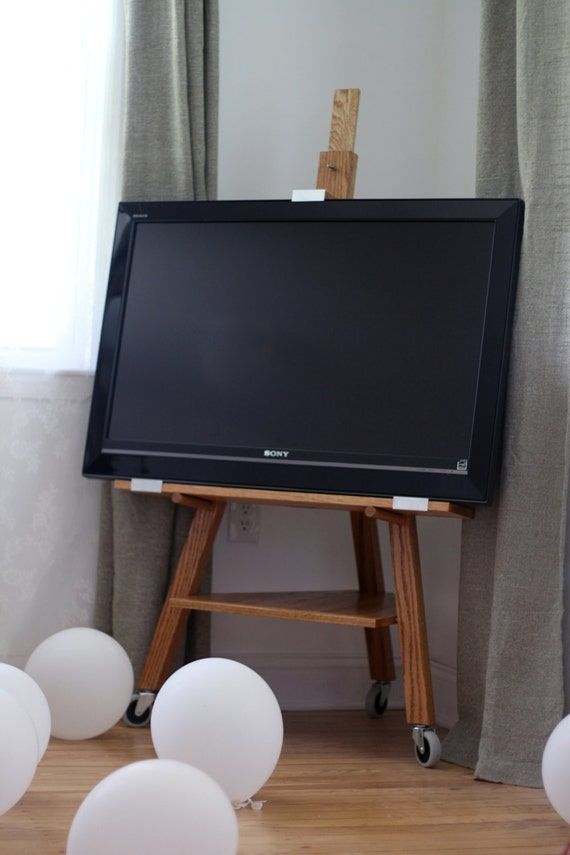 TV Stand Easel Golden Oak