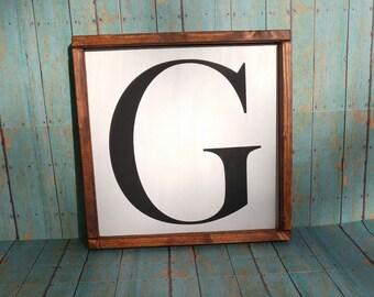 Wood Letter Sign