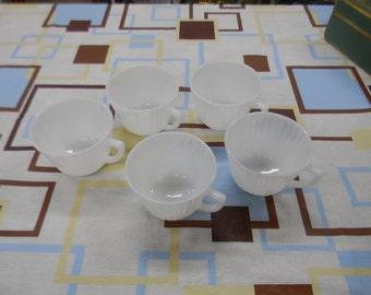 Milk Glass Coffee Cups