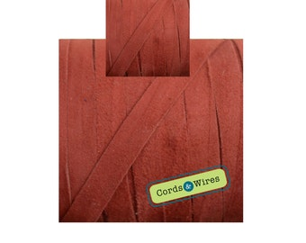 CW06117 Egyptian Red - 1 meter x 6mm Flat Suede