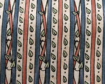 1 yd 20 inches - Leaf Vine Stripe - Moda Fabrics by Deb Strain   Destash 238