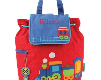Train Quilted Backpack with FREE Personalization - Toddler Boys Backpack