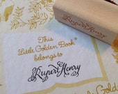 FREE SHIP Name Stamp, Personalized, Custom Wood and Rubber with Custom Calligraphy in Choice of Font Wedding