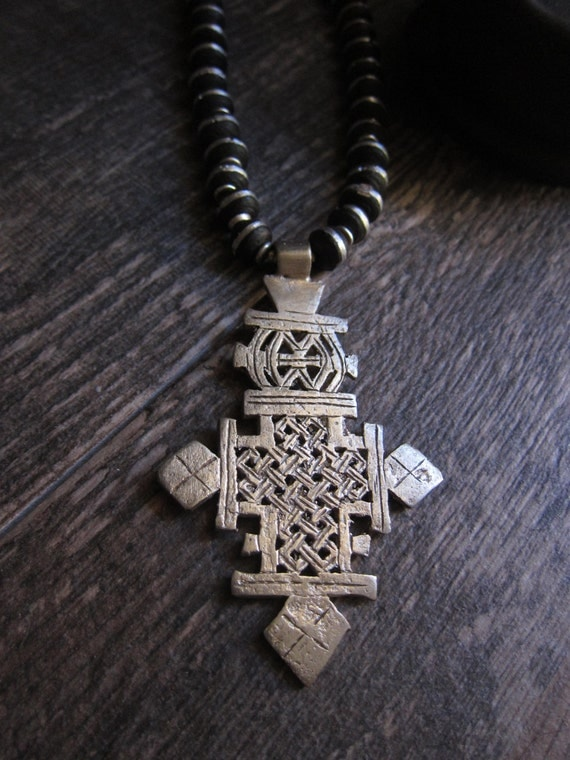 African Coptic Cross Necklace