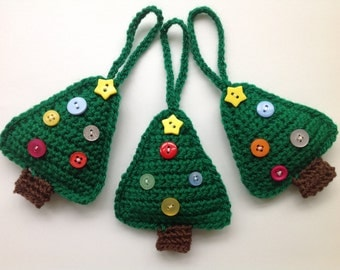 Christmas Tree Crochet Pattern, Tree Ornament, Christmas Decoration Pattern, Instant Download,