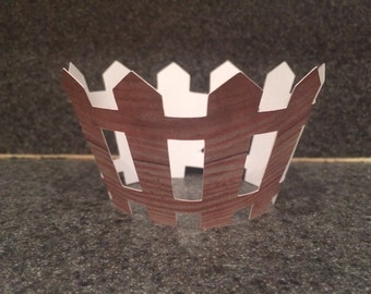 Barnyard Fence Cupcake Wrapper