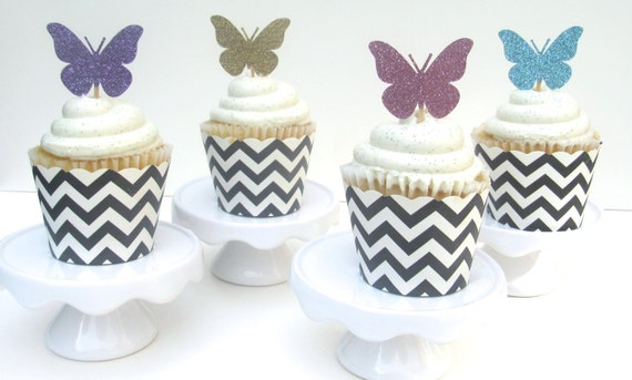 Butterfly Cake Toppers Baby Shower : Butterfly Cupcake Toppers, Party Decor, Birthdays, Summer ...