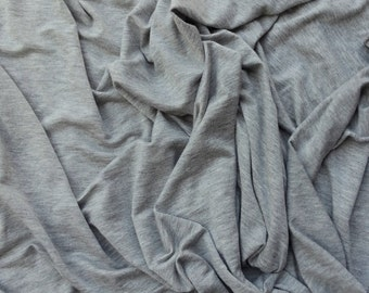Modal Spandex Fabric Jersey Knit by the Yard - Heather Gray #31 10-14