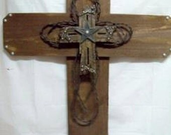 CLEARANCE - Big Star and Barb Wire Cross