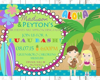 Kids Luau Invitation