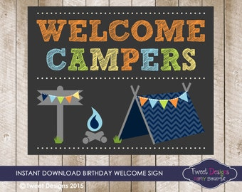 Camping Party Printables Camping Birthday Party Camping
