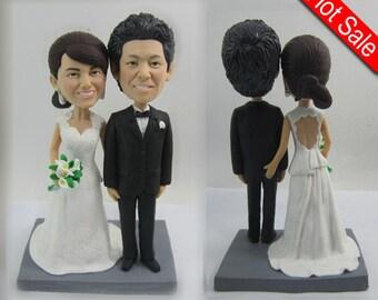 wedding topper Cake Toppers custom cake topper wedding cake topper custom bobblehead cake topper wedding bobblehead cake toppers -CT PG01