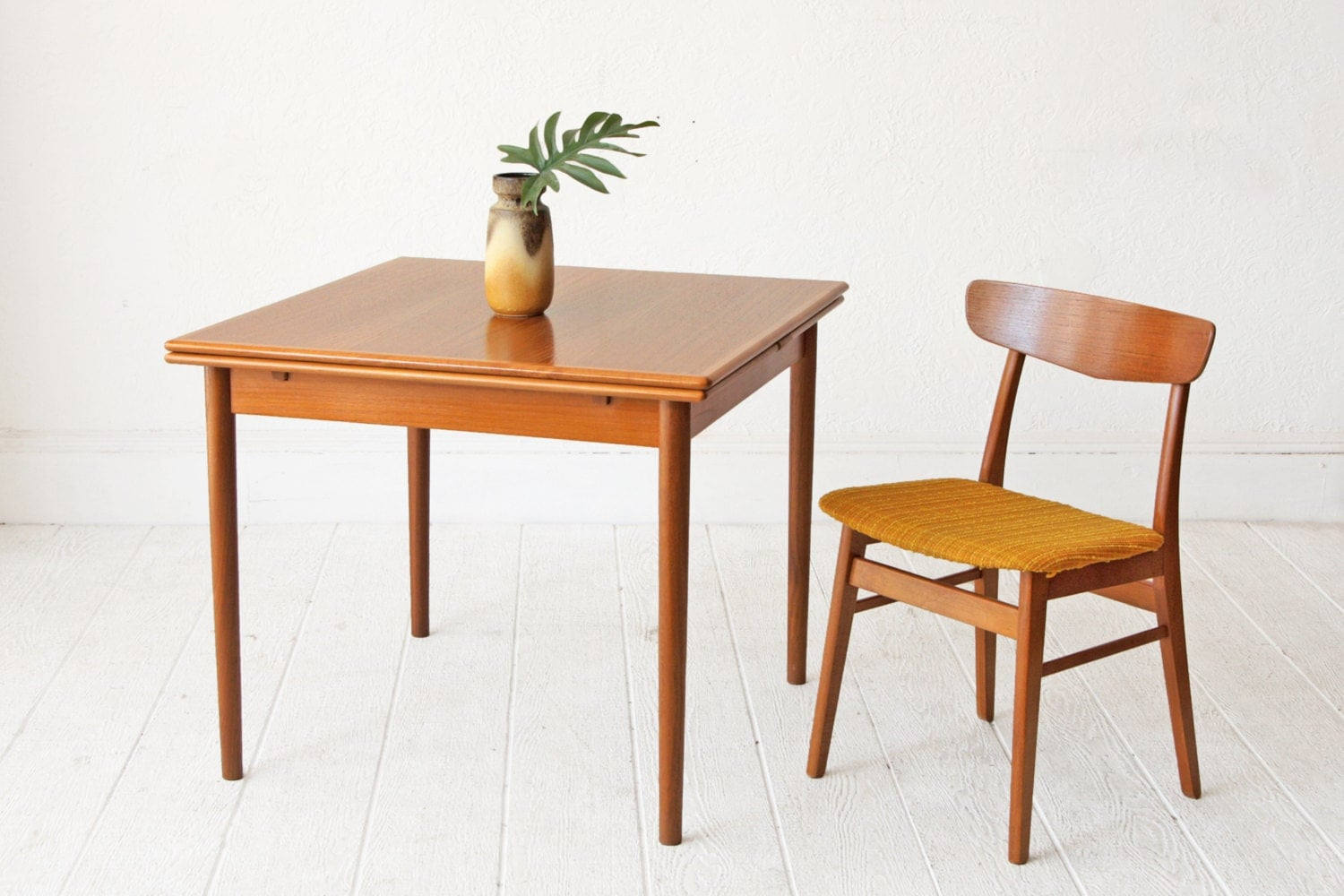 dining room table teak danish mid century table haute juice