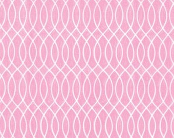 Hugaboo Brushed Cotton, Twirly Pink Lace by Deb Strain for Moda 19737 11B